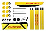 Funtec Beach Champ Set - transportable Beachvolleyball-Netzanlage mit Profinetz
