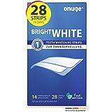 Onuge Bright White Teeth Whitening Strips – Bleaching-Strips zur Zahnaufhellung – Ohne Peroxid – 28 Streifen für 14 Tage