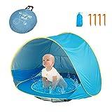 HUSAN carpa portátil para playa de bebé | ligero | piscina carpa | UPF 50 + refugio de sombra solar para Unisex-niños (0-3 años) (1-2 niños)