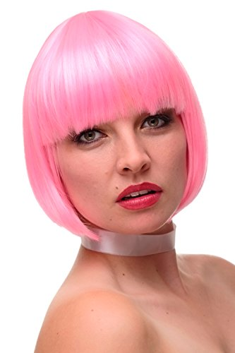 WIG ME UP- peluca de mujer cosplay pelo corto Bob flequillo mezcla rosa GF-W248F-TF2315/TF2317