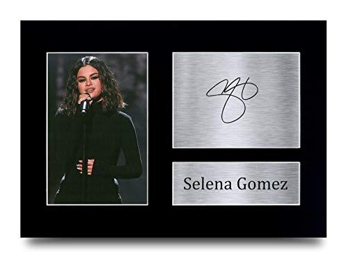HWC Trading A4 Selena Gómez Regalo Imagen Impresa En Autógrafos para Los Aficionados De La Música Objetos Firmados - A4