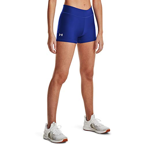 Under Armour Women's HeatGear Armour Mid Rise Shorty , Royal Blue (400)/White, Small