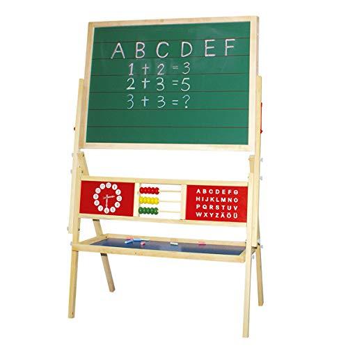 Idena 23905 - Standtafel mit Ablage, Kreidetafel und Whiteboard, magnetisch, ca. 76 x 38 x 118 cm, zum Malen, Schreiben und Rechnen