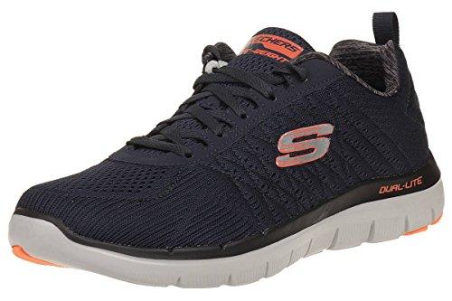 Skechers Herren The Happs - Flex Advantage 2.0 Sneaker, Blau (Dark Navy), 44 EU