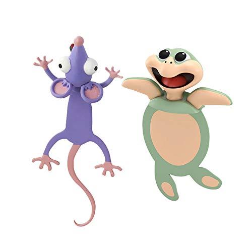 3D Stereo Cartoon schön Tier Lesezeichen Geschenk für Kinder und Erwachsene,Witzige 3D Cartoon Tier-Lesezeichen,bookmark animal,lesezeichen kinder,lesezeichen magnetisch