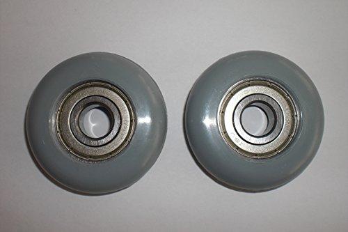 1 Paar Eckerttortechnik Garagentorrollen Aüßendurchmesser 52 mm Bohrung 12 mm Breite 15mm