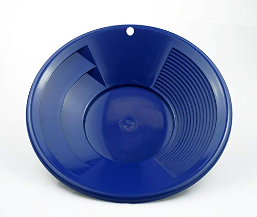 SE GP1011BL8, Batea de plástico para buscar oro, con dos tipos de riffles, Azul (Blue), 8 pulgadas (20.3 cm)