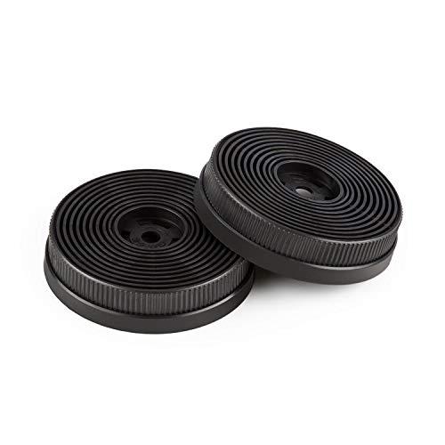 Klarstein Aktivkohlefilter für Dunstabzugshauben Ersatzteil 2 Filter Umluftbetrieb Ø10,5 cm
