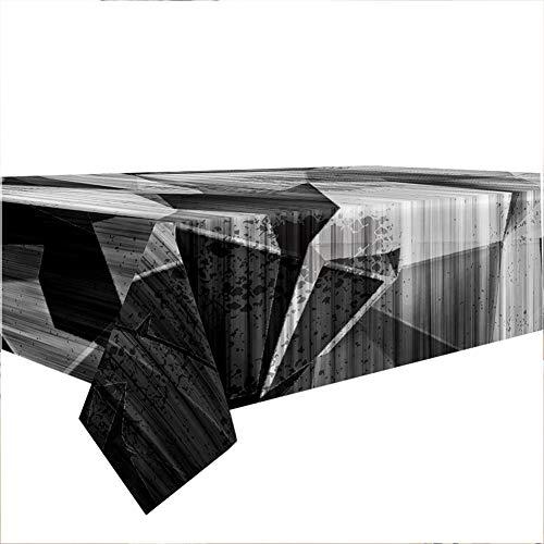 Hiser Tovaglia Antimacchia Rettangolare, Impermeabile Tovaglie Antipolvere Interno ed Esterno Poliestere Cucina Soggiorno Decorazione da Tavola (Grigio,140x240cm)