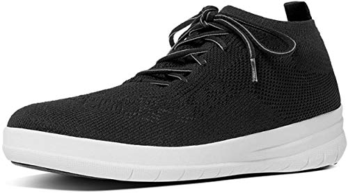 Fitflop Damen Uberknit Slip-On High Top Sneaker Hohe Hausschuhe, Schwarz (Black 001), 39 EU