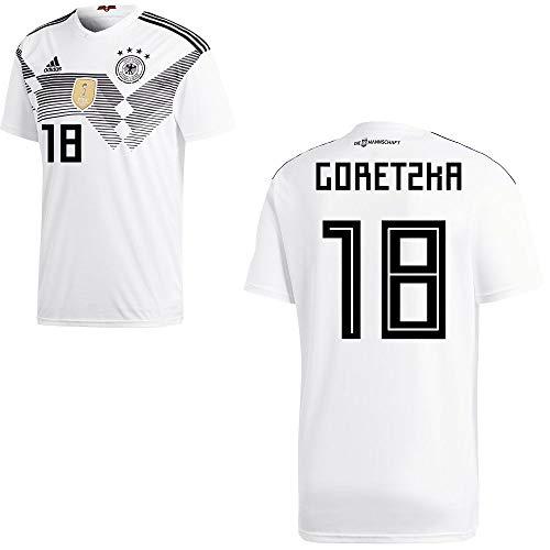 adidas Fußball DFB Deutschland Home Trikot WM 2018 Heimtrikot Herren Goretzka 18 Gr M