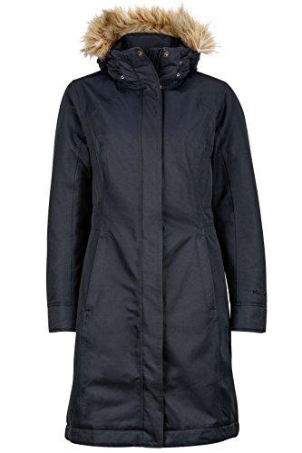 Marmot Women's Chelsea Waterproof Down Rain Coat, Fill Power 700, Jet Black, Large