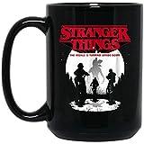 Stranger Things The World sta capovolgendo Undici tazza da caffè - 11 once regalo nero per bambini Bambini Figlio Figlia Fans a Natale Compleanno Ringraziamento Pasqua Capodanno Anniversario di matrim