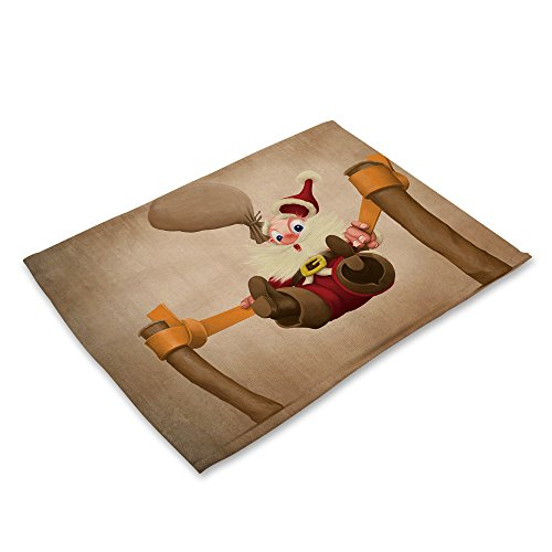 LoveLeiter Weihnachten Tischset Matte Dekoration Home Party Weihnachten Esstisch Cartoon Tischdecke...