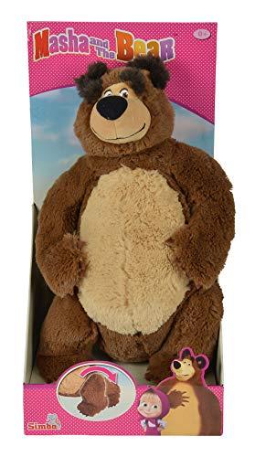 Simba 109309893 - Mascha und der Bär Plüschbär mit bewegliche Beine 43 cm