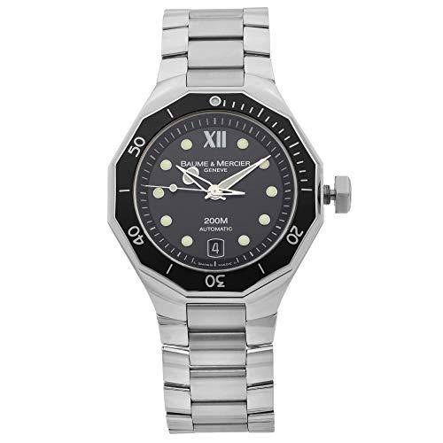 Baume et Mercier Riviera Reloj automático para hombre con esfera negra de acero MOA08778