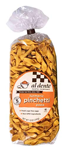Al Dente Fresh Non-gmo Turmeric Pinchetti Pasta,, 12 Oz (pack Of 6)