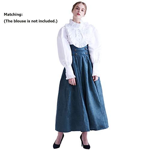 BLESSUME - Falda estilo steampunk de cintura alta, gótica, Lolita