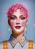 Pintura de diamante, 5D Diamond Painting por numerosdiseño con diamantes de imitación, completo diamante de cristal bordado (Chica de moda) 30 x 40 cm Sin Marco Craft Decoración del hogar