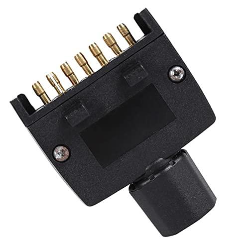 Útil El adaptador del conector del enchufe del enchufe del remolque masculino de 7 pines AU plana para el remolque de Caravan RV proporciona conexión de la lámpara lateral indicadora Piezas pequeñas p