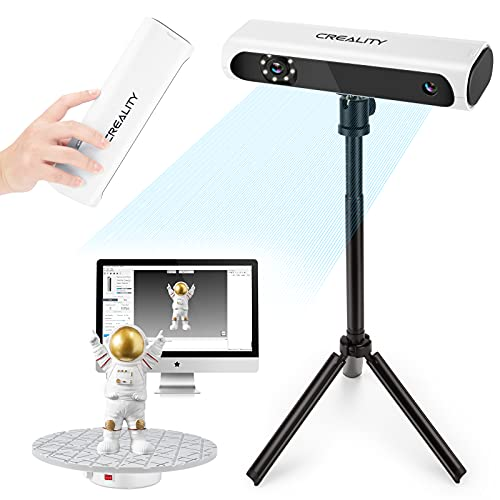 Creality Upgraded CR-Scan01 3D Scanner Kit with Turntable and Tripod, Handheld & Turntable Dual-Mode, 0.1mm Accuracy, No Marker Quick Scanning, Affordable Professional Level 3D Printer Scanners