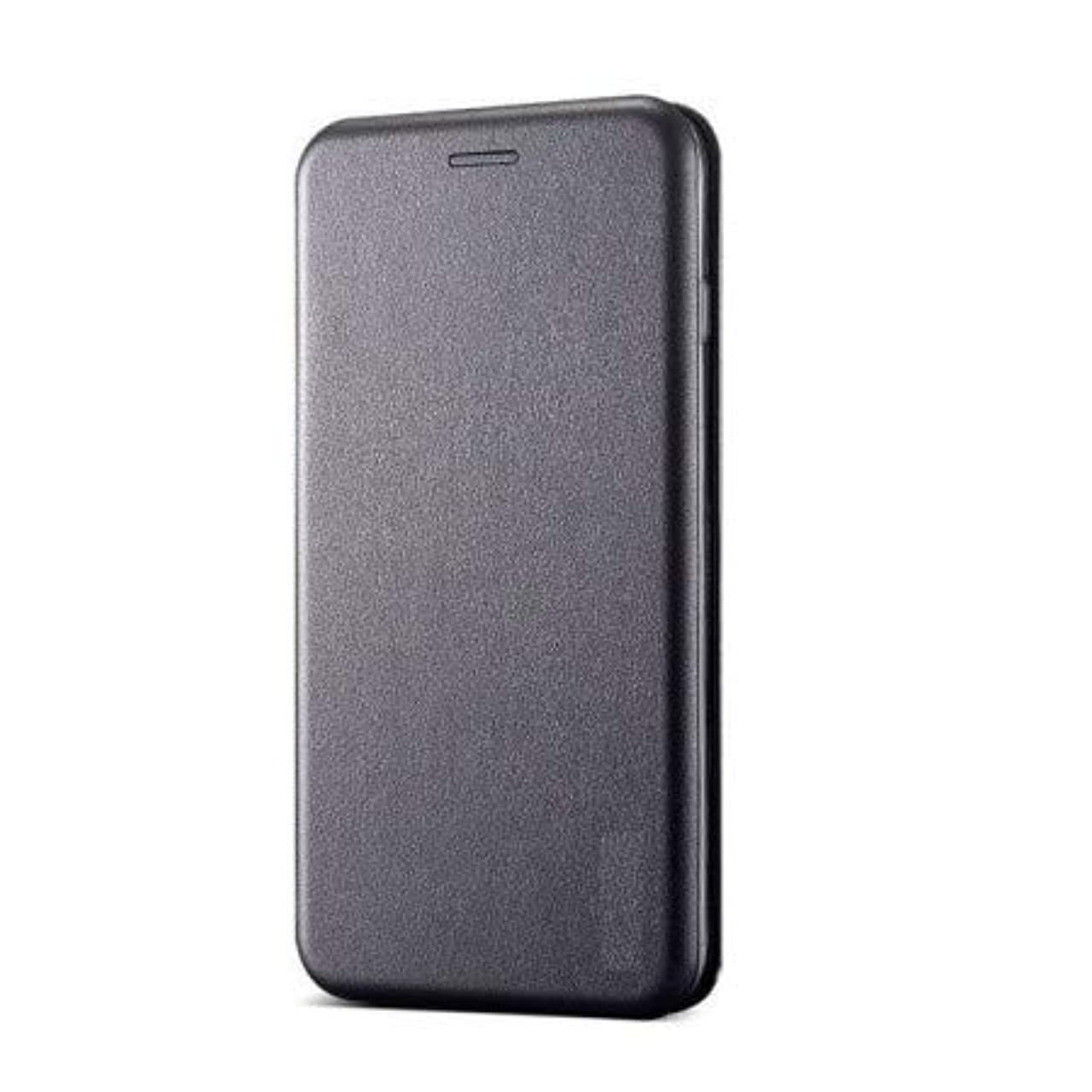 Teleplus for Huawei Y7 2018 Wallet Case with Magnet Stand Gray + Nano Screen Protector
