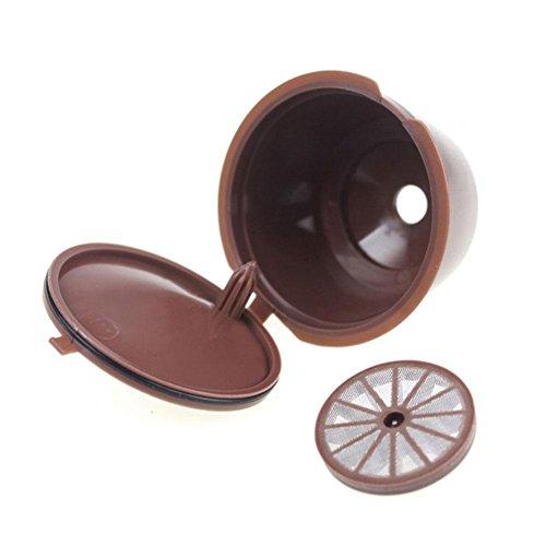 Luminiu - Filtro de café de Acero Inoxidable, combinación de Filtro de café, 5 Juegos de Vasos de Filtro de café con Cuchara y Pincel