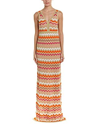 M Missoni Women's Ombre Zig Zag Maxi Dress