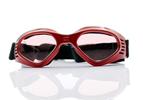 Namsan stilvolles und Fun Tier/Hundewelpen UV-Schutzbrillen Sonnenbrille Wasserdichten Schutz Sun-Brille Fuer Hunde-Red