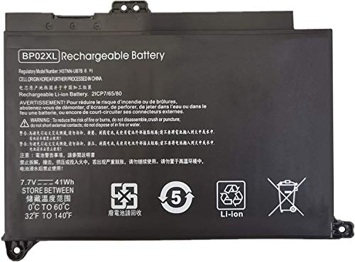 7XINbox 7,7V 41Wh BP02XL HSTNN-UB7B HSTNN-LB7H 849569-421 batería del Ordenador portátil para HP Pavilion PC 15 15-AU000 15-AU010WM 15-AU018WM 15-AW000 15-AW053NR Series BP02041XL