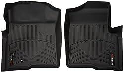 SMARTLINER Floor Mats 2 Row Liner Set Black for 2011-2014 Ford F-150 SuperCrew Cab