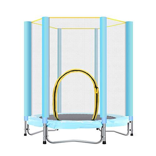 Cama elástica plegable de 140 cm de diámetro, con revestimiento de borde y red de seguridad, peso 100 kg, para uso en interiores y exteriores