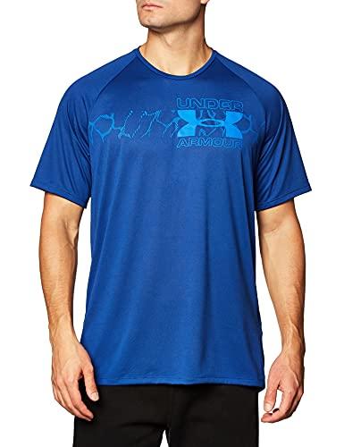 Under Armour Herren 1352052-449_M T-Shirt, Blu Anu/Versa (449), M