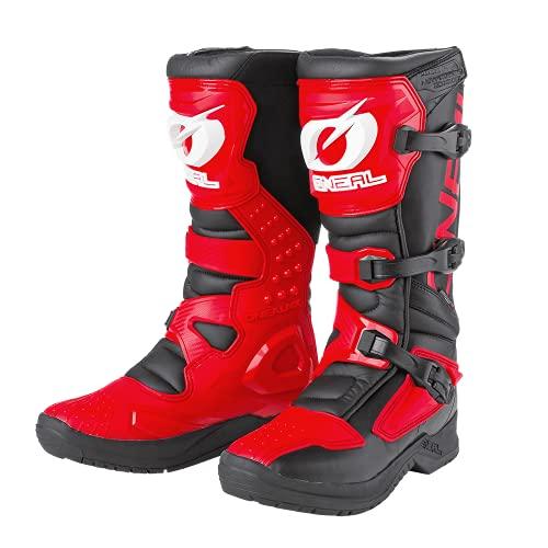 O'NEAL | Botas de Motocross | Enduro de Motocross | Protección Interior de Tobillos, pies y Zona de Cambio, Forro Perforado, Microfibra Botas RSX | Adultos | Rojo | Talla 47