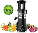 NUTRI-PRESS Slow Juicer Entsafter mit 2 Einfüllöffnungen | Elektrische Obst & Gemüse Saftpresse |...