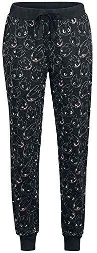 Drachenzähmen leicht gemacht Ohnezahn - Light Up Frauen Pyjama-Hose schwarz M