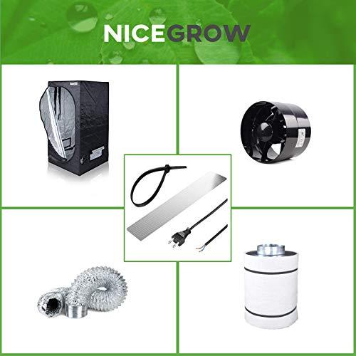 Nice Grow Growzelt Abluft-Set Dark Box 80 Black Orchid Axial Flo 243cbm/h Aktivkohlefilter