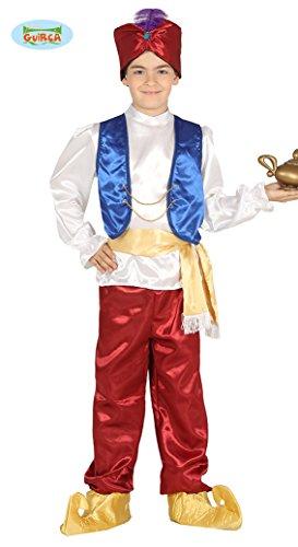 Guirca Costume vestito Aladino principe arabo carnevale bambino 8751_ 5-6 anni