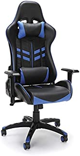 OFM ESS-6065-BLU Racing Style Gaming Chair 44; blue