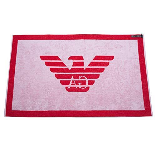 Emporio Armani Swimwear Towel Beachwear Pop Contrast Vestaglia, Rosso (Fiamma 00175), Medium (Taglia Unica: TU) Uomo