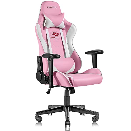 Flashshark Pink Gaming Chair,Racing Style Office Computer...