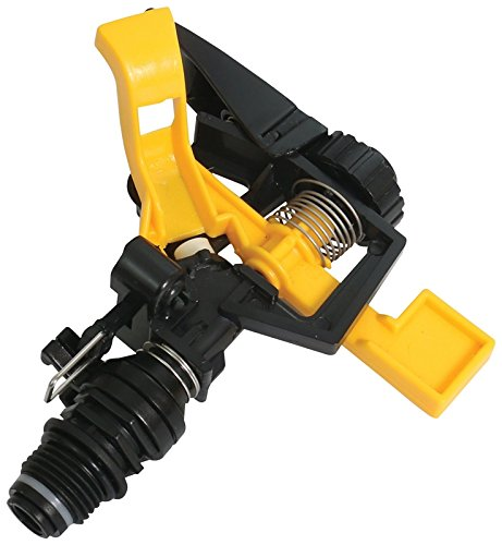 Rocky Mountain Goods Plastic Pulsating Impact Sprinkler Head - Heavy Duty Plastic Adjustable Sprinkler Head with up to 60' Diameter Water Coverage - 0° - 360° Pattern