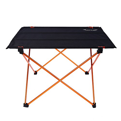 Portable Camping Table, Lightweight Folding Roll Up Picnic Table by Sportneer