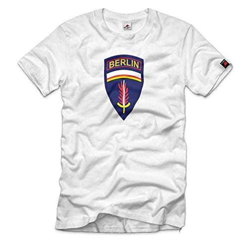 Copytec US-Berlin-Brigade USA Wappen Abzeichen Emblem Deutschland #11142a, Größe:Herren S, Farbe:Weiß