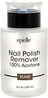 Epielle Moisturizing Nail Polish Remover 100% Acetone Pump, 6 Ounce