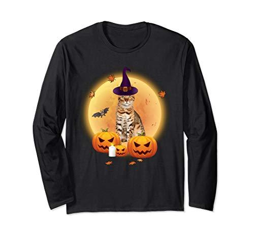 Bengal Cat Halloween Gift - Bengal Cat Funny Halloween Long Sleeve T-Shirt