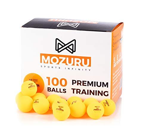 MOZURU Pelotas de Ping Pong Pack 100 Unidades, 100 Pelotas de Tenis de Mesa, Premium Training 40+,...