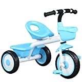 QULONG Children Bicycle Shockproof Kid's Tricycle, with Backrest Toddler Trike Sealed Eight-Star Wheel Tricycle for 2-5 Year Old Children Birthday Gift Load Weight 80