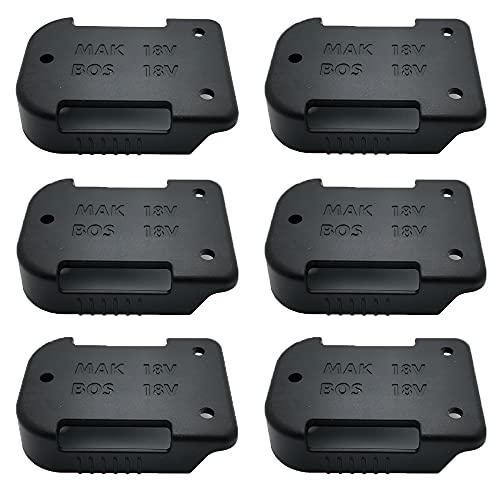 Soporte de pared para todas las baterías Makita/Bosch, para baterías de 18 V y 14,4 V de Makita BL1450, BL1815 y BL1850, soporte de batería de almacenamiento con clip para cinturón