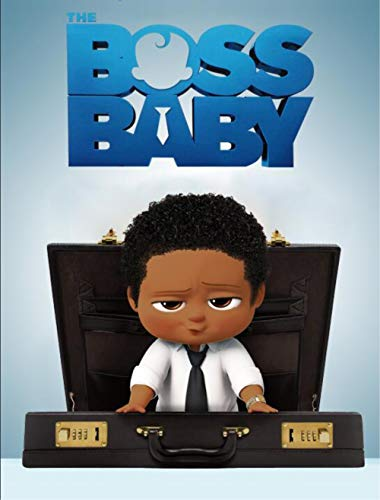 Photo Backdrops 5x7 Black Boss Baby Backdrop for Baby Shower Vinyl Backgrounds Backdrop African Boy Tabletop Birthday Photographic Background Customized